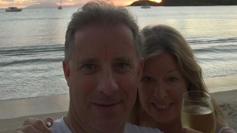 Christopher Steele and his wife