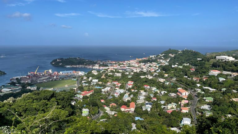 A sweeping view of Grenada, one of dozens of island nations vulnerable to climate change