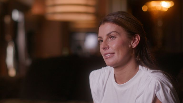 Undated handout screengrab issued by Amazon Prime of Coleen Rooney appearing in a trailer for a biopic about her husband, footballer Wayne Rooney. Footage for the upcoming Amazon Prime Video project, titled Rooney, shows snippets of the football star with his family and also features interviews with famous names from the pitch including Gary Neville and Thierry Henry. Issue date: Tuesday October 12, 2020.