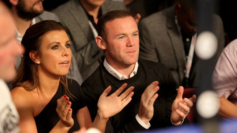 File photo dated 25/09/16 of Wayne Rooney and wife Coleen.