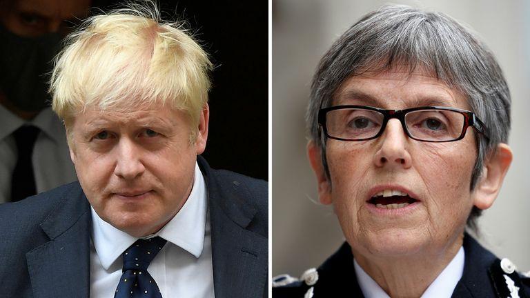 2way Comp Cressida Dick and Boris Johnson