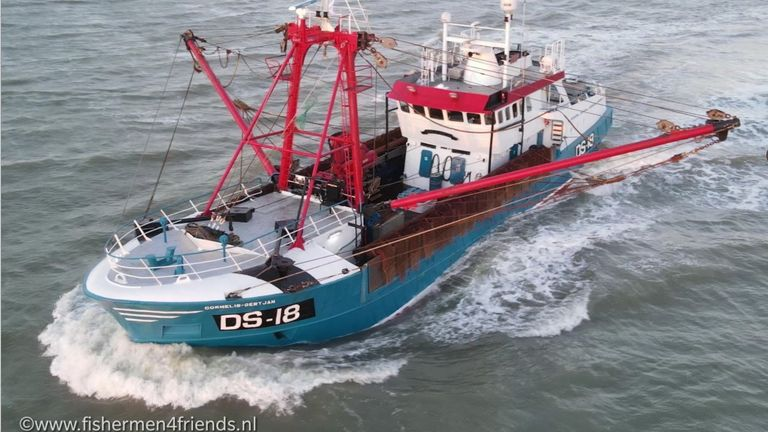 Picture shows ship Cornelis  MUSt CREDIT Arjan Buurveld  On October 27th Macduff's scallop vessel Cornelis was boarded by the French authorities and ordered into the French port of Le Harve while legally fishing for scallop in French waters.    Access to French waters for the UK scallop fleet is provided under Brexit Fisheries Agreement.