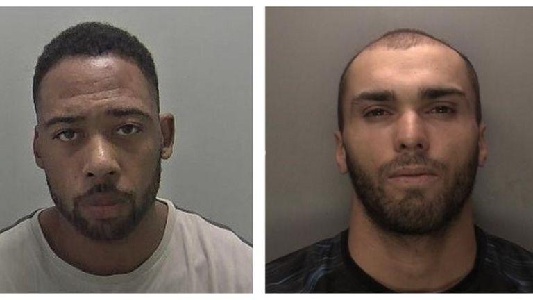 Levi Pollard-Mersom (Left)  and Jordan Hill. Pic: West Midlands Police