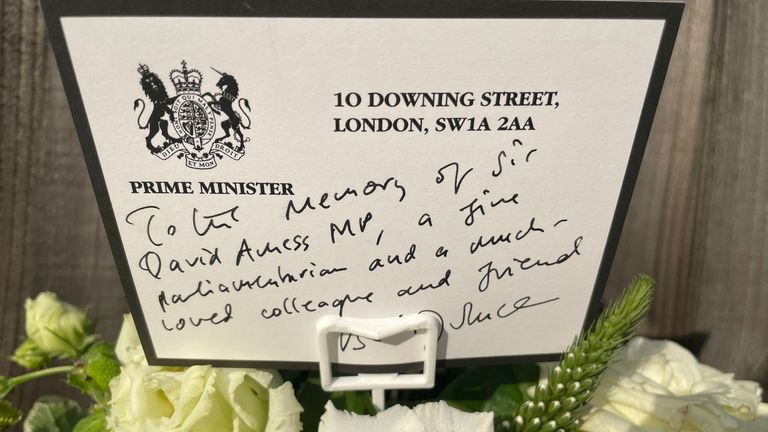 The letter of tribute to Sir David written by Boris Johnson. Pic: 10DowningStreet