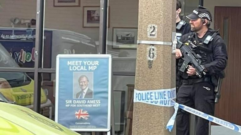 Armed police at the scene. Pic: Anthony Fitch
