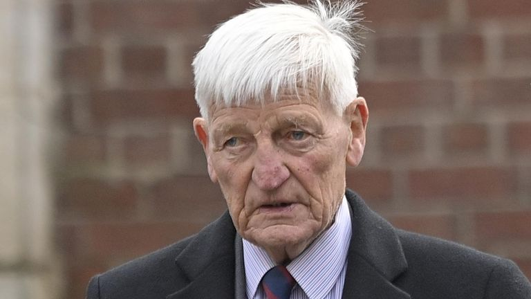 Dennis Hutchings pictured arriving at court earlier this month