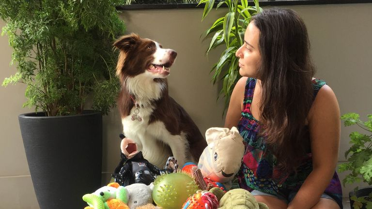 Gaia and owner Isabella from Brazil also took part in the research