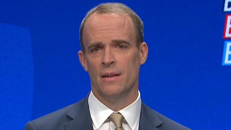 Dominic Raab states his priority as justice secretary