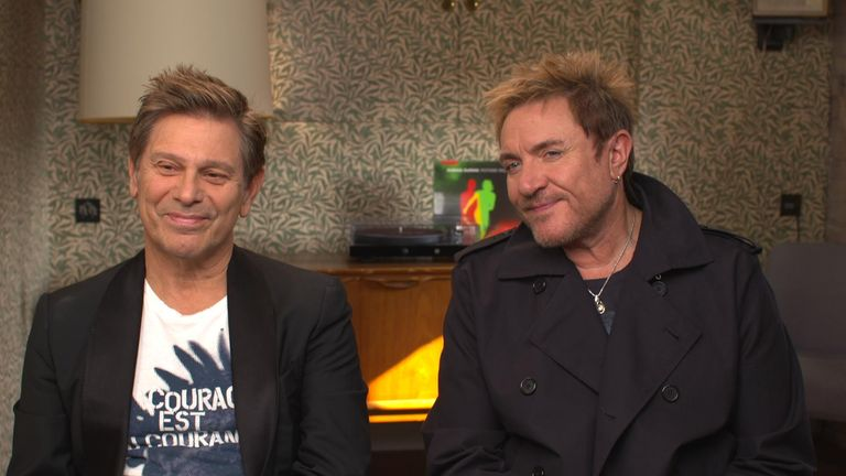 Duran Duran's Simon Le Bon and Roger Taylor spoke to Sky News on accepting the past and making a new album.