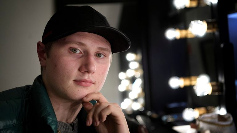 Swedish rapper Einar poses for a photograph in this picture taken on November 8, 2019. Picture taken November 8, 2019. Jessica Gow/TT News Agency via REUTERS ATTENTION EDITORS - THIS IMAGE WAS PROVIDED BY A THIRD PARTY. SWEDEN OUT. NO COMMERCIAL OR EDITORIAL SALES IN SWEDEN.