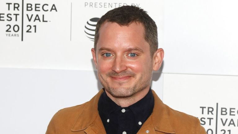 Actor Elijah Wood attends the premiere for ...No Man of God... during the 20th Tribeca Festival at Pier 76 in Hudson River Park on Friday, June 11, 2021, in New York. (Photo by Andy Kropa/Invision/AP)