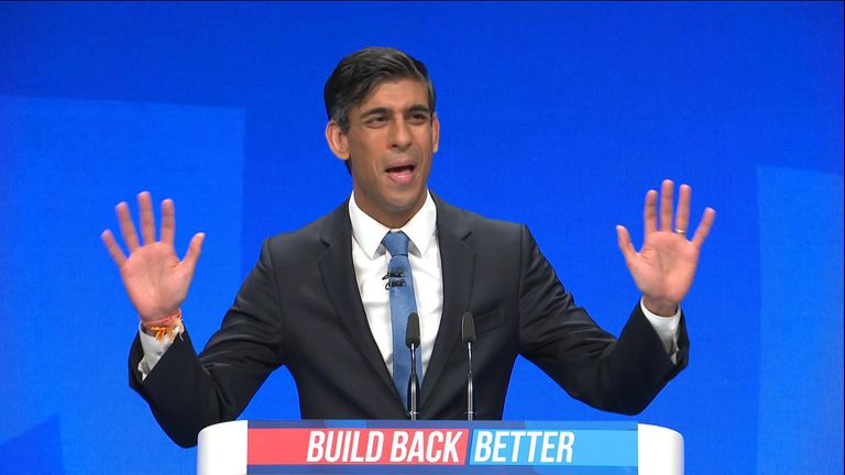 encore - .Rishi Sunak returns to the stage at the conservative Party Conference