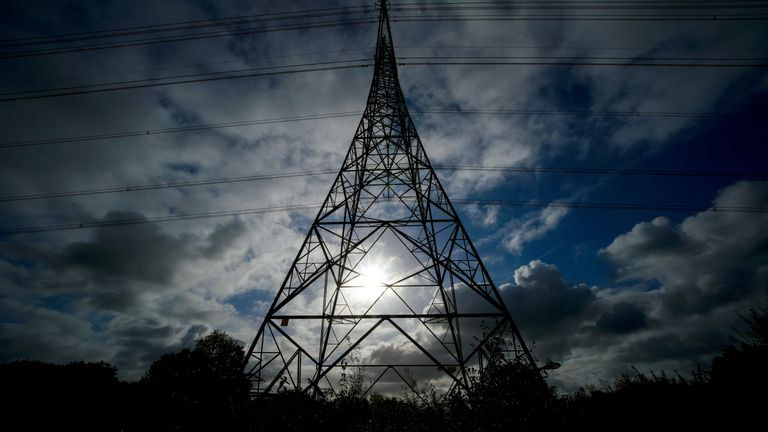 A view of an electricity pylon in Cheshire. Ministers are facing calls to continue talks with industry bosses in a bid to stop firms going to the wall amid rising energy costs. Business Secretary Kwasi Kwarteng has pledged to keep the energy price cap in place to help households struggling with rising costs, but he has offered no new support for businesses. Picture date: Monday October 11, 2021.