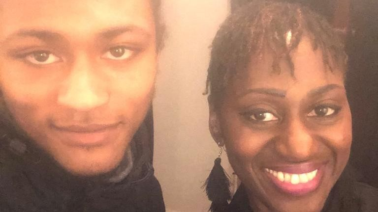 Ethan Nedd-Bruce pictured with his mother Cherie: Pic: Cherie Nedd