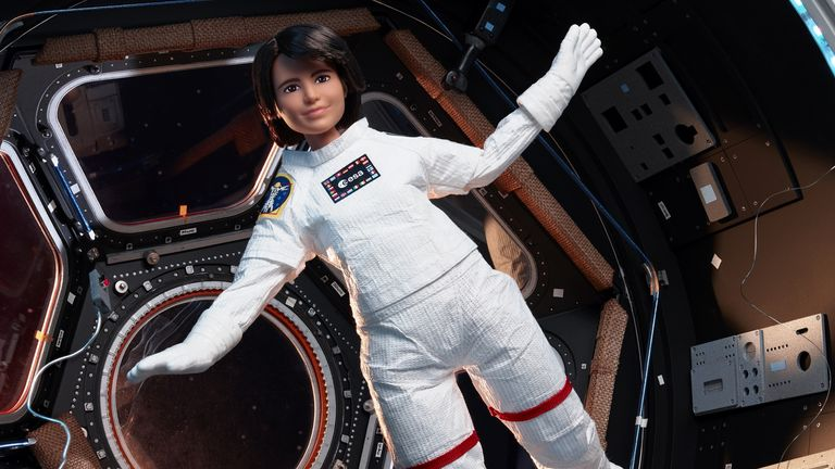 Undated handout photo issued by European Space Authority (ESA) of astronaut Samantha Cristoferetti's Barbie doll. The Barbie brand has teamed up with the ESA and its only active female astronaut to inspire young girls to see the science, technology, engineering, and mathematics (Stem) field as a viable career option. Issue date: Monday October 4, 2021.