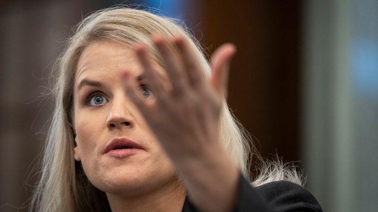 Former Facebook employee and whistleblower Frances Haugen