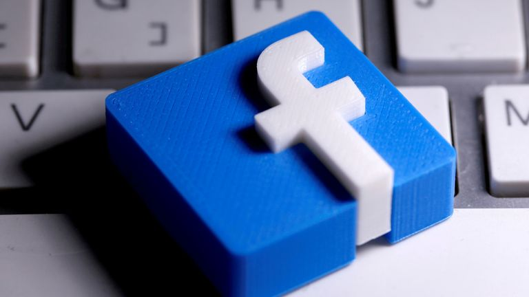 FILE PHOTO: 3D-printed Facebook logo is seen placed on a keyboard in this illustration taken March 25, 2020. REUTERS/Dado Ruvic/Illustration/File Photo/File Photo