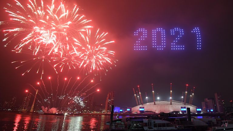Lats year, the fireworks were moved to a different area of London and involved the use of drones