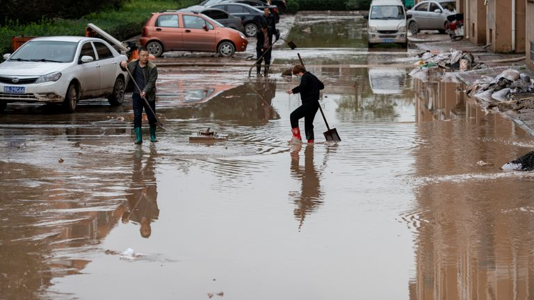 Thousands of homes have been hit by the flooding in northern China
