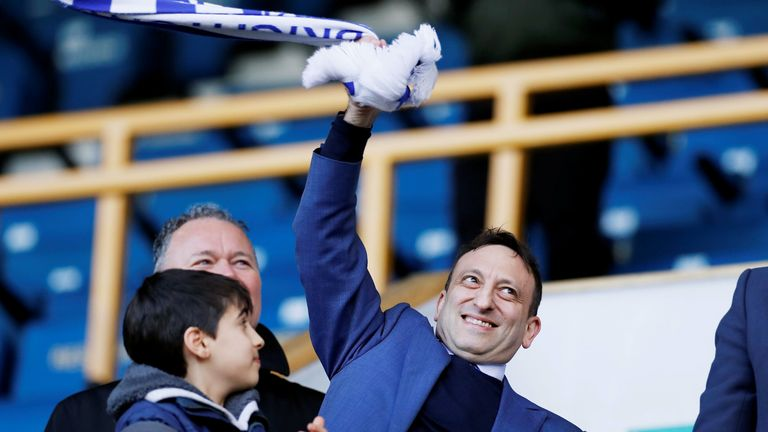 Soccer Football - FA Cup Quarter Final - Millwall v Brighton & Hove Albion - The Den, London, Britain - March 17, 2019 Brighton chairman Tony Bloom celebrates after the match Action Images via Reuters/Paul Childs