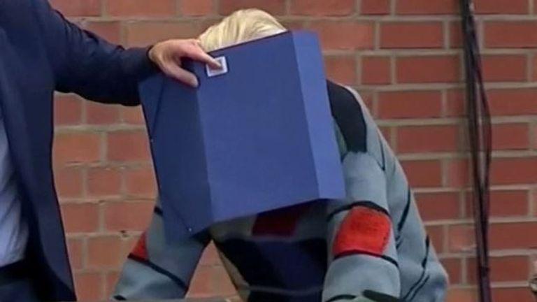 Former SS guard arrives at trial in Brandenburg