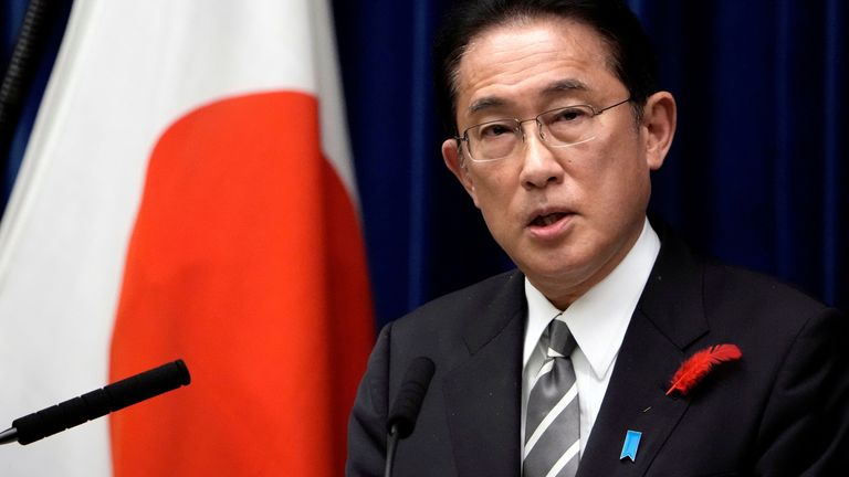 Japanese Prime Minister Fumio Kishida speaks during a news conference at the prime minister's official residence in Tokyo, Japan October 14, 2021. Eugene Hoshiko/Pool via REUTERS/File Photo