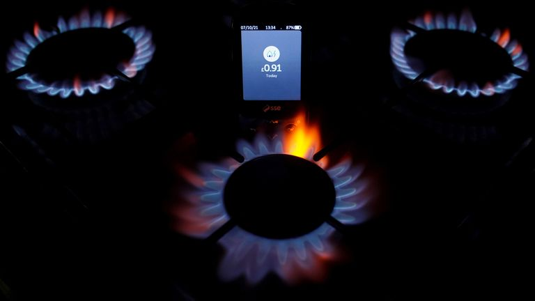 A smart meter on a gas hob (file pic)