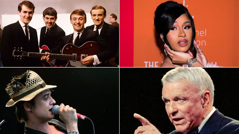 Comp 4-way - Clockwise - Gerry and the Pacemakers, Cardi B, Babyshambles and Frank Sinatra