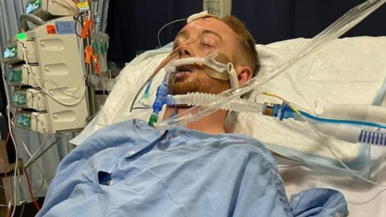 GO FUND ME picture of Danny Hodgeson Must link back to page  https://www.gofundme.com/f/danny-hodgson-recovery-fund   Danny Hodgson Coma -  British footballer who was left in a coma after being punched in Australia