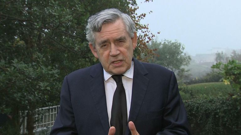 Gordon Brown urged society not to give up on its democratic values in the face of terrorism, following the killing of a Conservative MP.