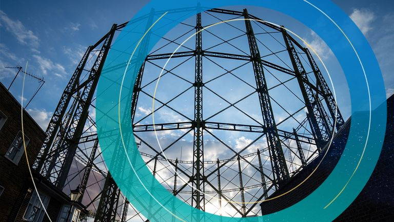 General view of a disused gas holder in central London. Around 1.5 million customers have seen their energy supplier go out of business this month after Avro Energy and Green Supplier Limited became the latest to announce their exit from the market due to a surge in wholesale gas prices. Picture date: Wednesday September 22, 2021.
