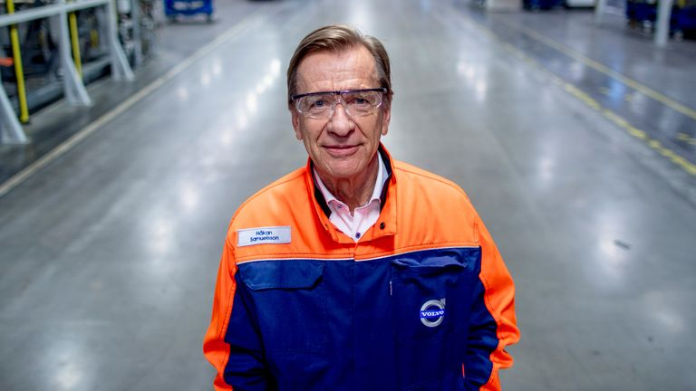 CEO Hakan Samuelsson is photographed in Volvo Cars factory that is to restart the production after a standstill due to the coronavirus disease (COVID-19) situation, in Torslanda, Gothenburg, Sweden April 17,2020