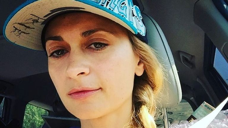 """Halyna Hutchins, director of photography for """"Rust"""", poses for a selfie photo in this picture obtained from social media. Courtesy of HALYNAHUTCHINS via Instagram/via REUTERS  THIS IMAGE HAS BEEN SUPPLIED BY A THIRD PARTY. MANDATORY CREDIT. NO RESALES. NO ARCHIVES."""