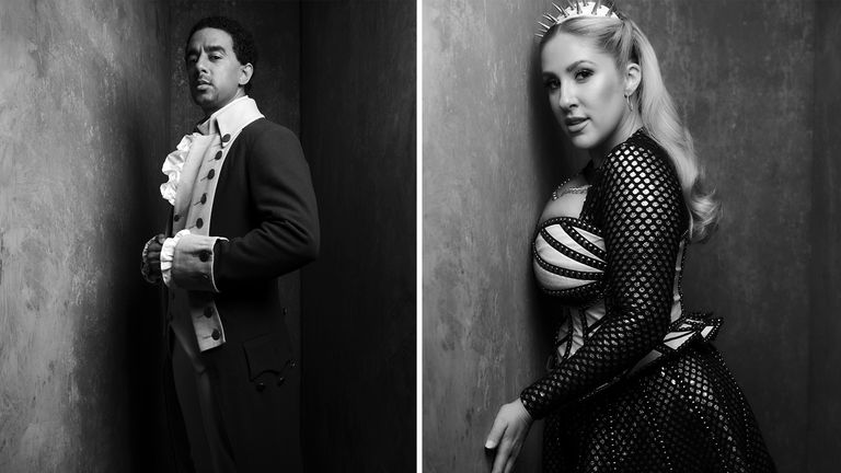 Karl Queensborough and Natalie Paris from West End shows Hamilton and Six are among those snapped for the exhibition. Pics: Rankin