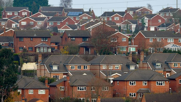 File photo dated 18/12/16 of a general view of houses in Rothwell, Northamptonshire. The UK is lagging behind most European countries in selling and installing low carbon heat pumps to clean up the emissions from heating homes, data show. Issue date: Monday September 13, 2021.