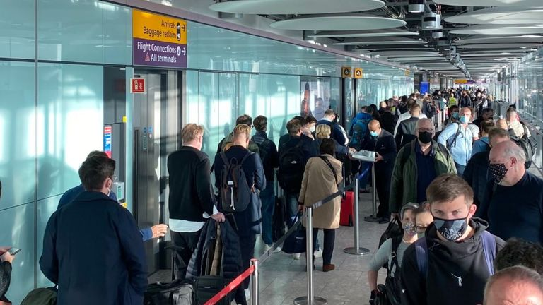 Passengers reported delays of several hours