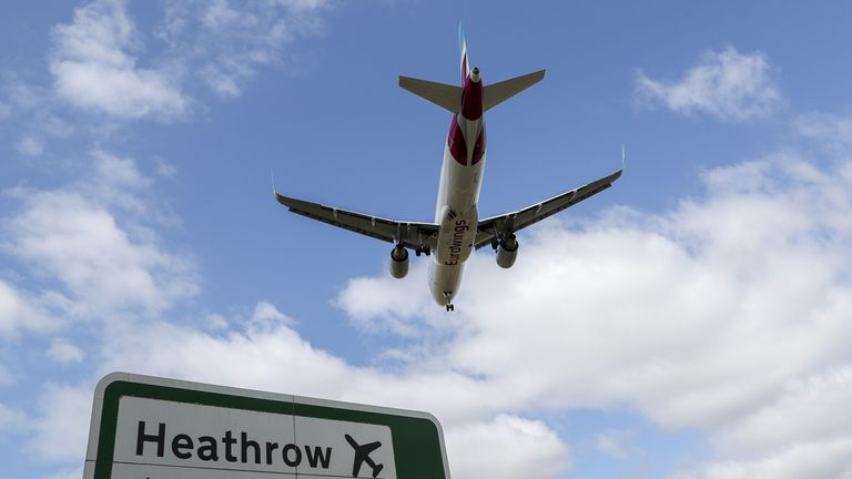 The 25-year-old man was arrested at Heathrow Airport on suspicion of terrorism