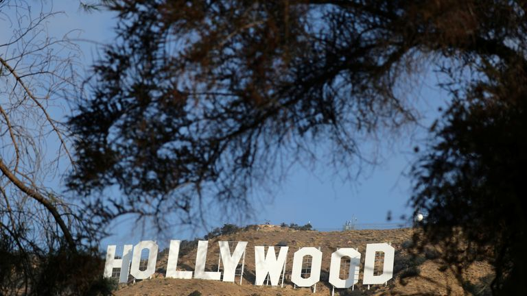 The Hollywood sign is seen in Hollywood, Los Angeles, California, U.S. October 19, 2017. REUTERS/Lucy Nicholson