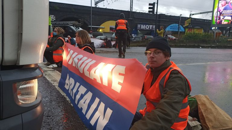 Insulate Britain activists are stopping traffic as they call for the government to help cut climate emissions