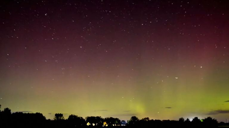 Aurora borealis seen as far south as Iowa after geomagnetic storm