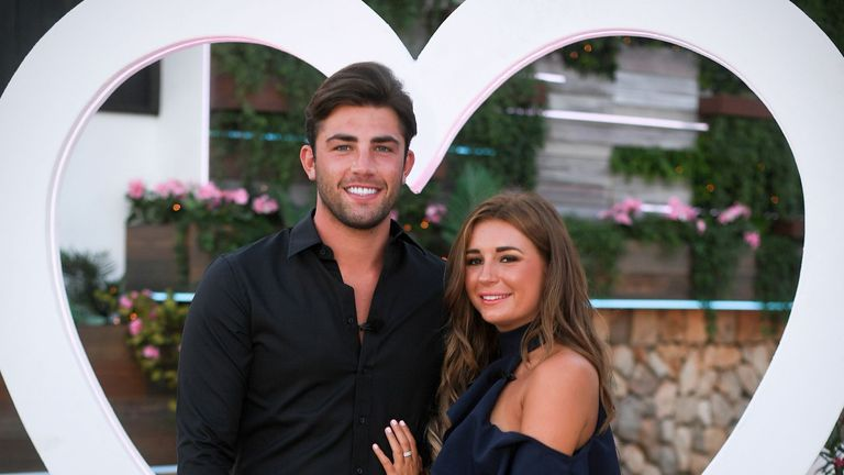 Fincham won the show with Dani Dyer. Pic: James Gourley/ITV/Shutterstock