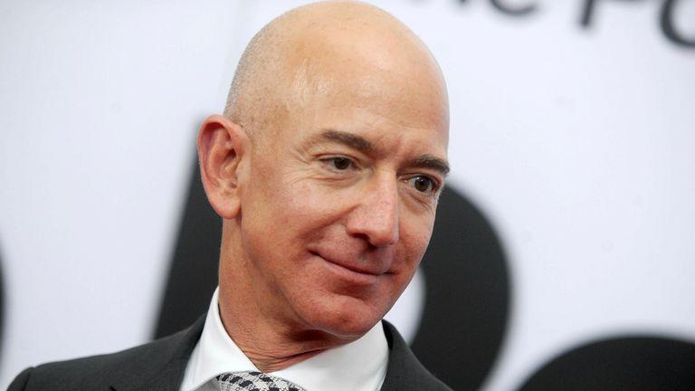 Jeff Bezos. Pic: AP