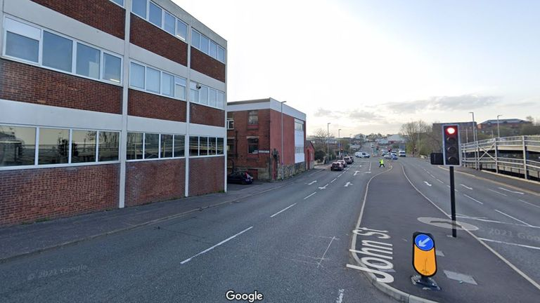 A general view of John Street in Rochdale. Pic: Google