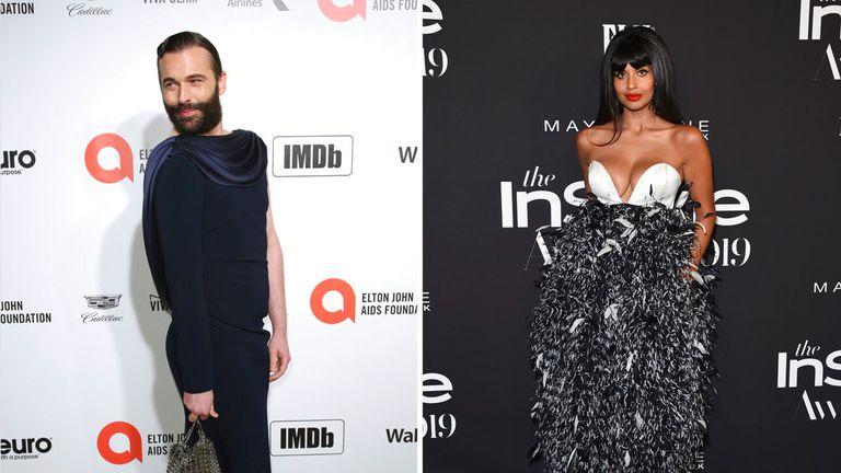 Jonathan Van Ness and Jameela Jamil. Pics: AP