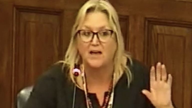 Karen Constantine is told at council meeting that the 'groans' in response to her speaking are the result of a sweepstake among Tory councillors