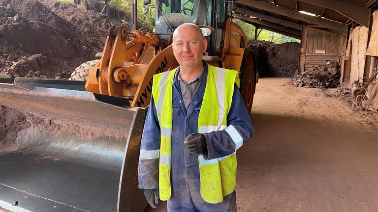 Andy Potter, 57, has worked at the plant for a quarter of a century