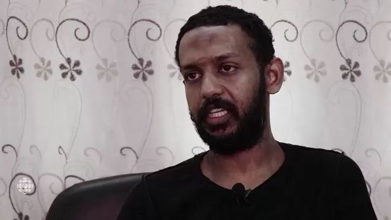 """Mohammed Khalifa was described by the US Department of Justice as a """"leading figure"""" in Islamic State's English language media unit. Pic: CBC/The Fifth Estate, 2019"""