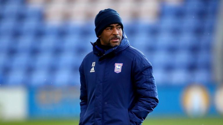 File photo dated 04-05-2021 of Ipswich Town's under 23 manager Kieron Dyer who is in hospital undergoing tests. Issue date: Wednesday October 27, 2021.