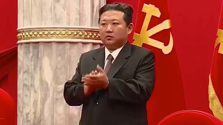 Kim Jong Un appears in a more traditionally western-style suit