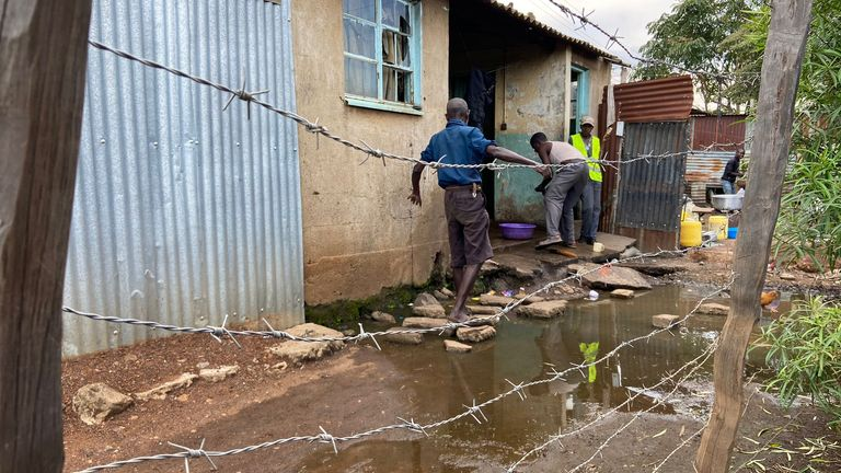 Puddles in Kisumu breeding grounds for malaria